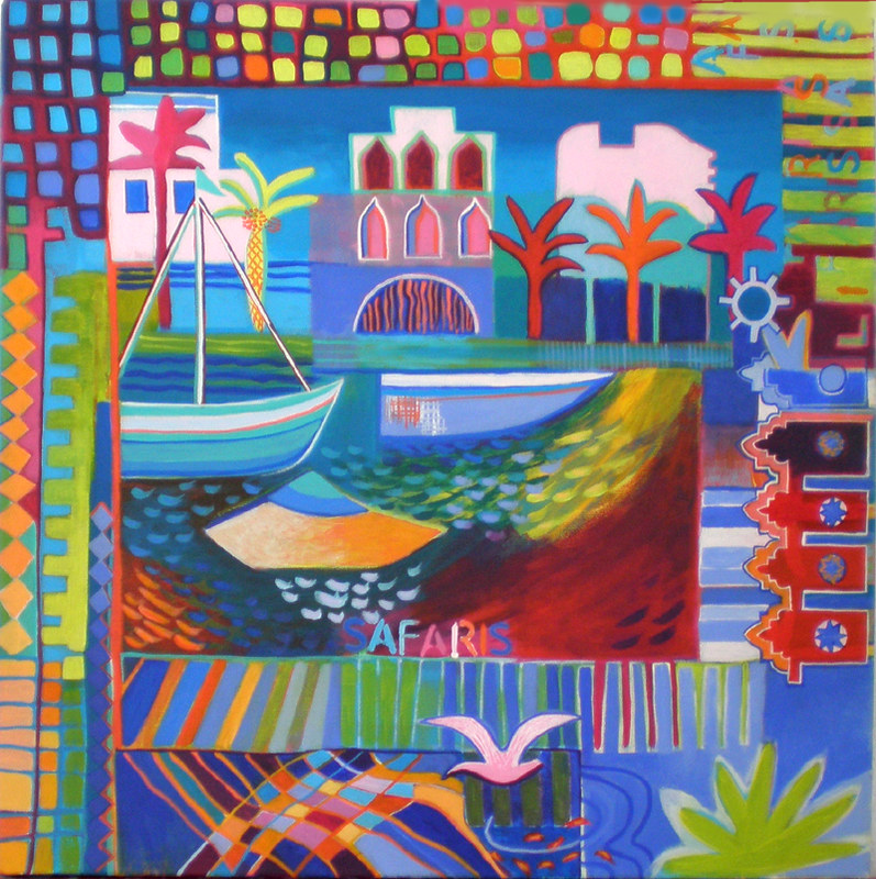 Lagos Marina Calcada, acrylic on canvas, 50 x 50cm €380