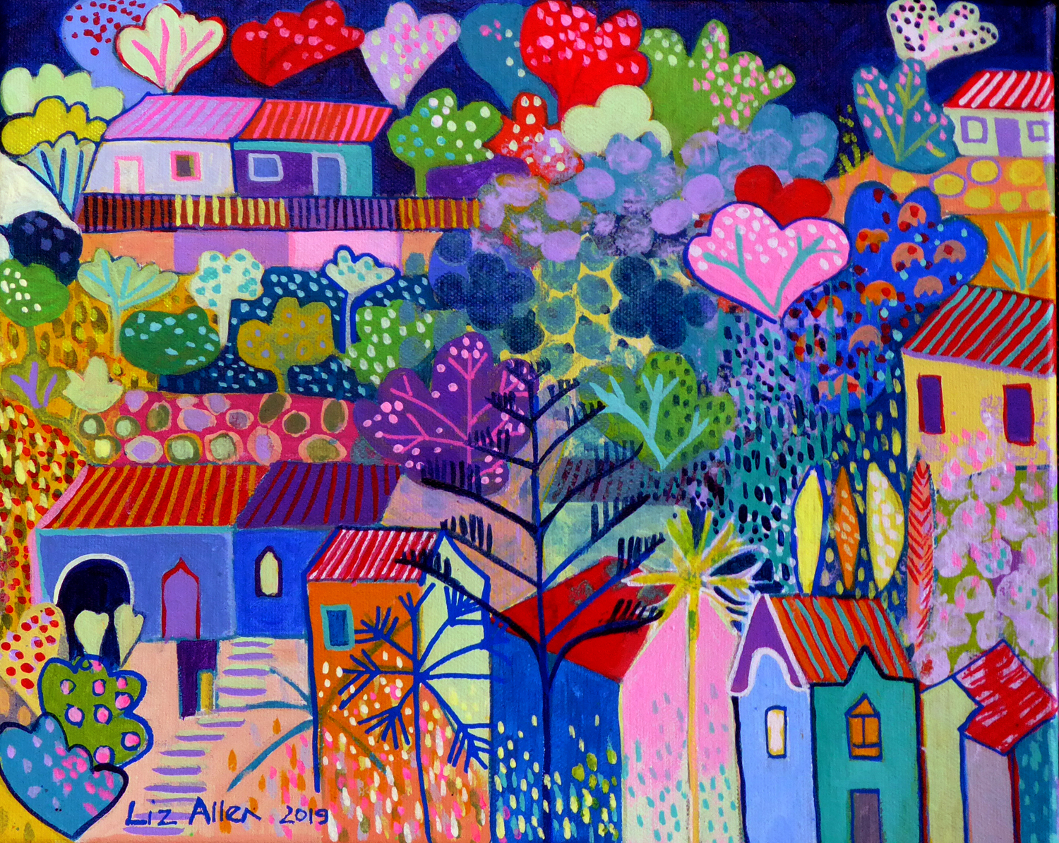 Caldas de Monchique, acrylic on canvas, €150
