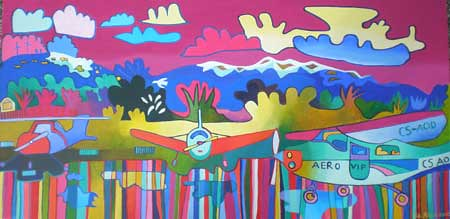Alvor Airport, acrylic on canvas, 40 x 80cm €500