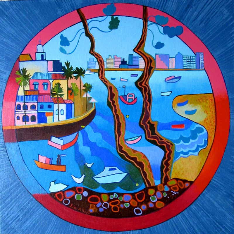 Ferragudo, acrylic on canvas, 50 x 50cm €400