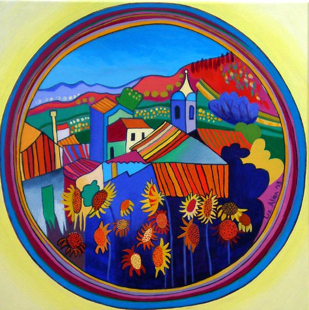 Monchique Summer, acrylic on canvas, 50 x 50cm €350