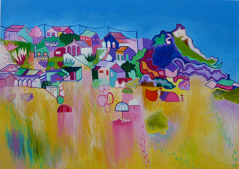 Monte Clerigo beach, acrylic on canvas, 50 x 70cm €500