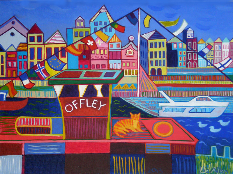 The Offley boat, Porto, acrylic on canvas, 30 x 40cm €280