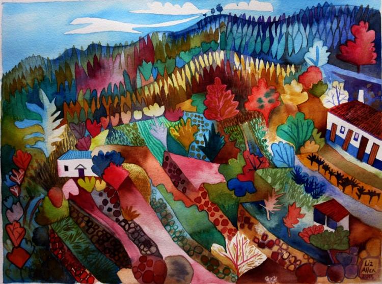 Watercolour painting by Liz Allen
